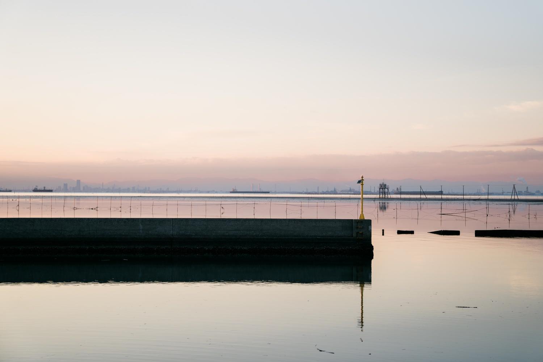 江川海岸の堤防
