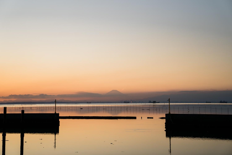 江川海岸から望む富士山