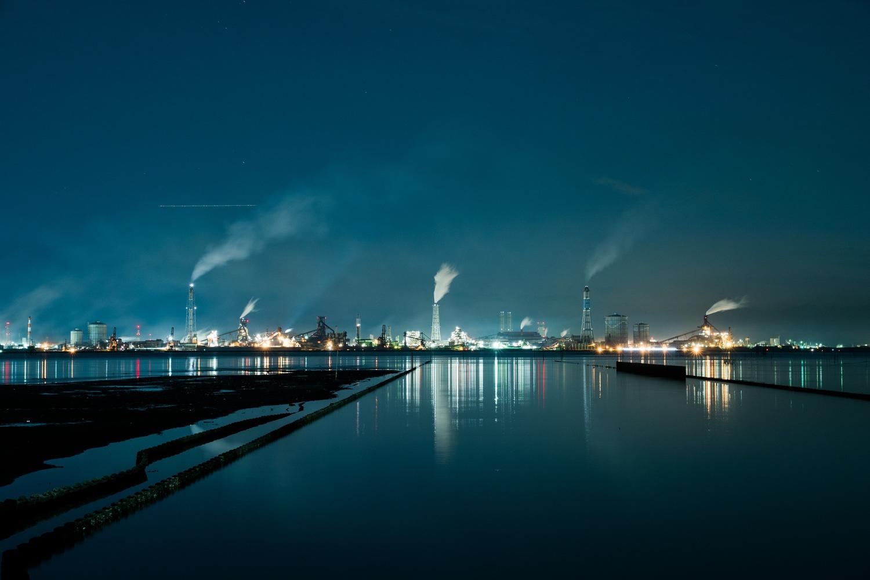 江川海岸から見た工場夜景