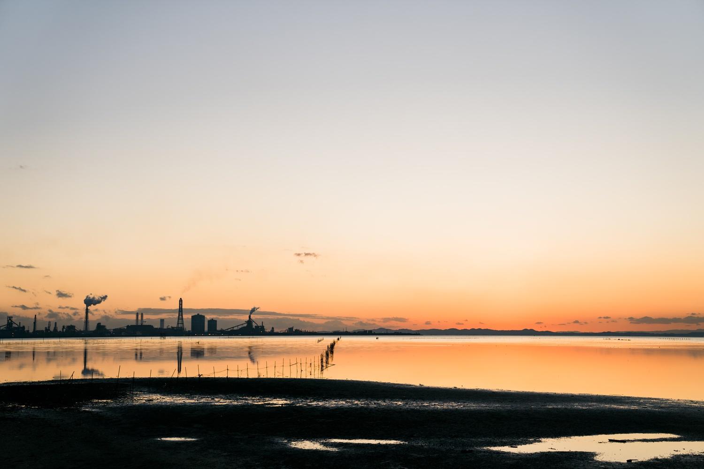 江川海岸の夕景