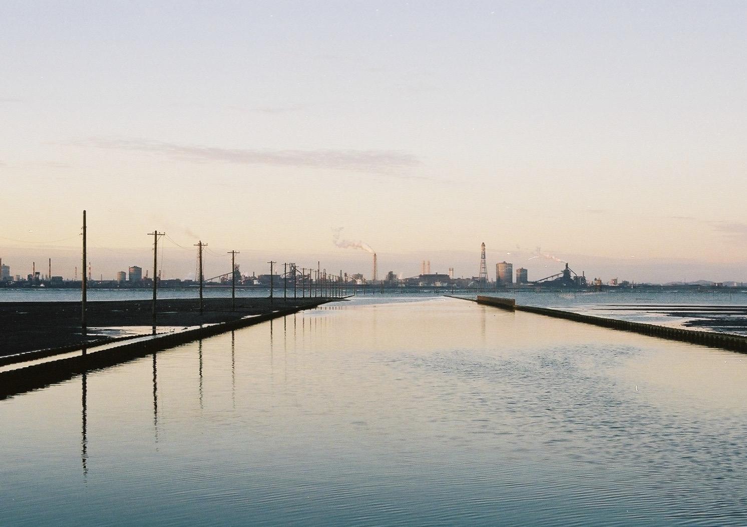夕刻の江川海岸