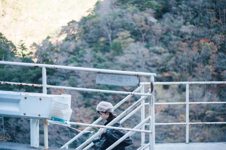 階段を下り夢の吊橋へ