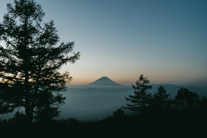 鍋頭から見る富士山